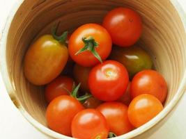 Tomatoes in a bowl photo