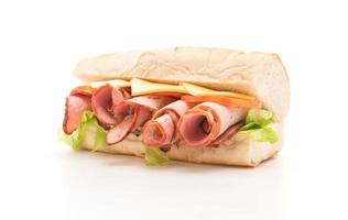 Ham and cheese sub sandwich