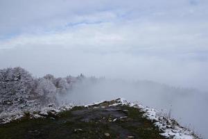 Winter landscape at the Creux Du Van