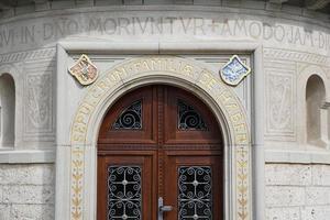 The door of a building