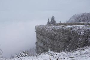 Winter landscape at Creux du Van