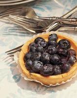 A blueberry tart