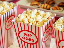 palomitas de maíz de película de cerca