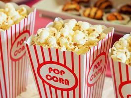 Movie popcorn close up photo