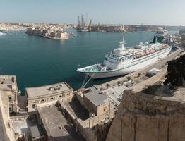 Port of Valletta in Malta