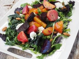 Side view of beet salad  photo