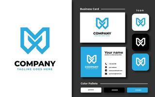 Creative Professional Initial M Branding Set vector