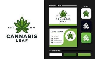 conjunto de marca de cannabis medicinal vector