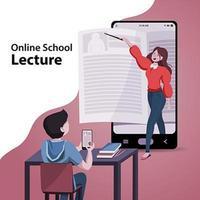 Online School Lecture Concept vector