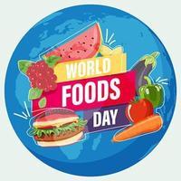 emblema del círculo del día mundial de la alimentación