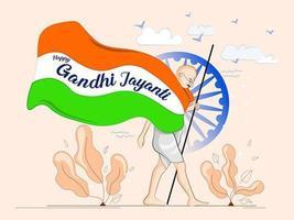 Happy Gandhi Jayanti Design vector