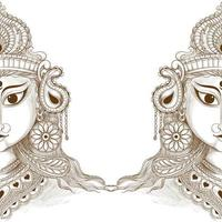 Beautiful navratri decorative sketch vector