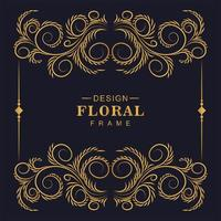 fantastisch bloemen sier decoratief gouden frame