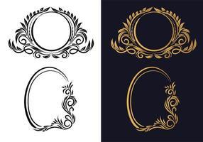 elegante conjunto de marco floral creativo