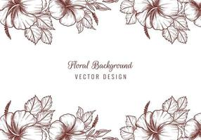 Beautiful decorative wedding floral borders