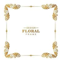 Ornamental golden decorative floral frame vector