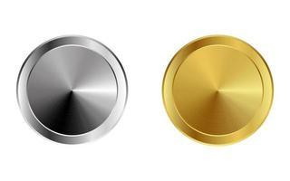 botones metálicos realistas vector