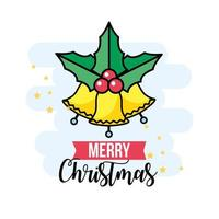 tarjeta de felicitación de navidad vector