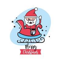 Christmas, Santa Claus greeting card