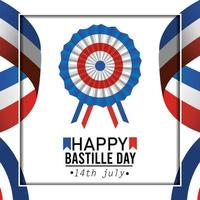 Bastille Day decoration greeting card