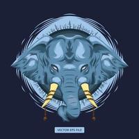 Mythical blue elephant design  vector