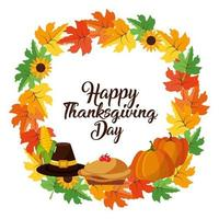 Happy thanksgiving day banner vector