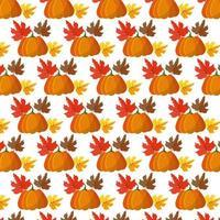 Autumn and fall, pumpkin seamless pattern vector