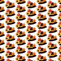 Happy thanksgiving seamless pattern vector