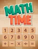 Math time educational poster