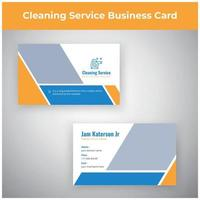 Cleaning Service Marketing Material Business Card