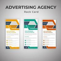 conjunto de tarjetas de agencia de publicidad vector