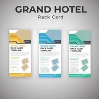 plantillas de tarjetas publicitarias de servicios de grand hotel vector