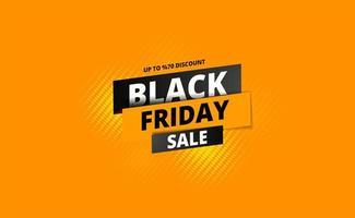 zwarte vrijdag verkoop poster met gele halftoon op oranje