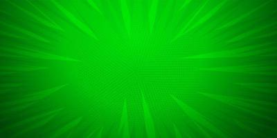 Green color, Comic book pop art strip radial backdrop vector