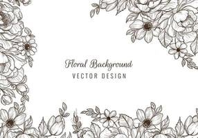 borde floral decorativo de la boda y diseño de la esquina vector