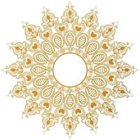 Elegant decorative mandala with heart shapes vector