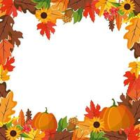 Autumn and fall natural frame vector