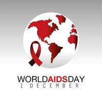 World AIDS day campaign with ribbon