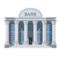 Stylish bank building isolated on white background vector