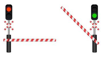 Train barrier isolated on white background vector