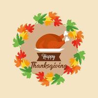 Happy thanksgiving day card vector