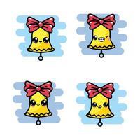 Set of kawaii bell icons
