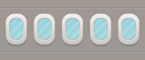 Airplane windows design vector
