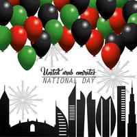 UAE celebration of the national day greeting card