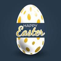 Gold Oval Dot Patterned Easter Egg Poster