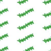 Cute cartoon fir branch seamless pattern vector