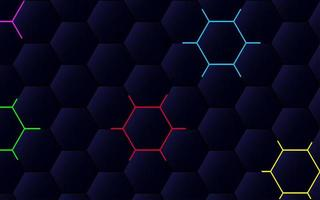 Modern polygonal abstract pattern with colorful outlines vector