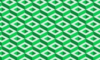 3D geometric green and white pattern