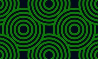 patrón de círculo concéntrico verde vector