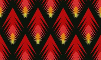Red and yellow arrow design pattern vector